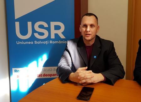 Înainte să-şi aleagă un nou preşedinte pe judeţ, USR are deja un lider nou la Oradea: fostul poliţist Marius Şovarschi