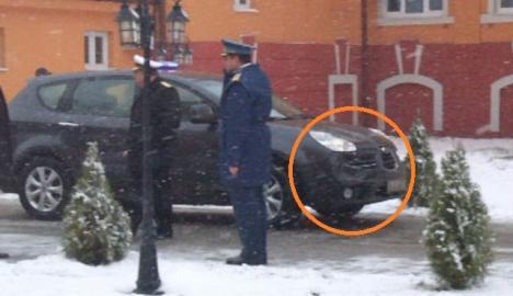 Un BMW al SPP, din coloana lui Boc, implicat într-un accident la Oradea