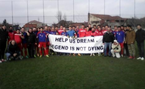 'Ajutaţi-ne să visăm!' Jucătorii de la FC Bihor au jucat un meci cu suporterii