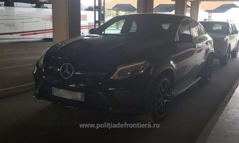 Un Mercedes Benz de 42.000 euro, dispărut recent în Franţa, a apărut la Vama Borş