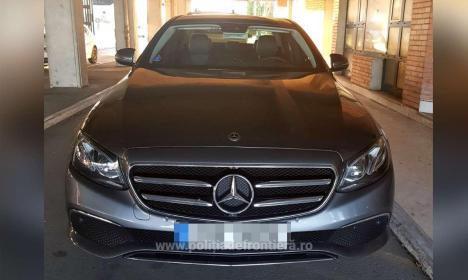 Mercedes în valoare de 55.000 de euro, căutat în Cehia, confiscat în Borş. Tânărul care îl conducea s-a ales cu dosar penal (FOTO)