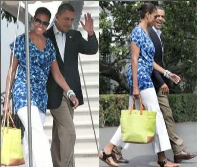 Michelle Obama, prima doamnă modestă: A ieşit în oraş cu o rochie de 30 de euro