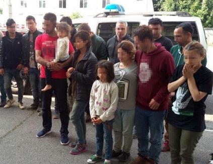14 migranţi din Siria şi Irak, prinşi de poliţiştii din Borş la 200 de metri de graniţă
