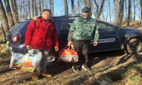 Migranţi prinşi în Bihor: şase cetăţeni din Algeria, Siria şi Maroc, opriţi din drumul ilegal spre Ungaria (FOTO)