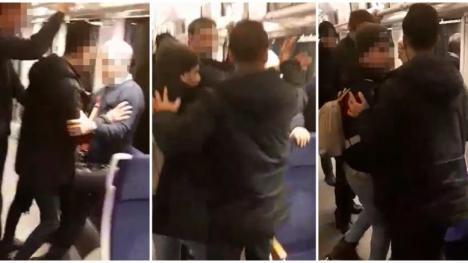 Scandal în tren: Migranţi libieni alungaţi din Valea lui Mihai au făcut tărăboi şi au încercat să-i jefuiască pe pasageri (VIDEO)