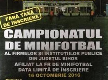 Premieră locală: Campionatul firmelor şi al instituţiilor publice la minifotbal