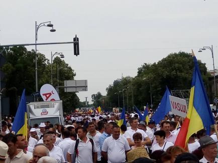 Dragnea la mitingul alb al PSD: 'Noi curăţăm ţara de mizeria împrăşitată de aceşti şobolani' (FOTO/VIDEO)