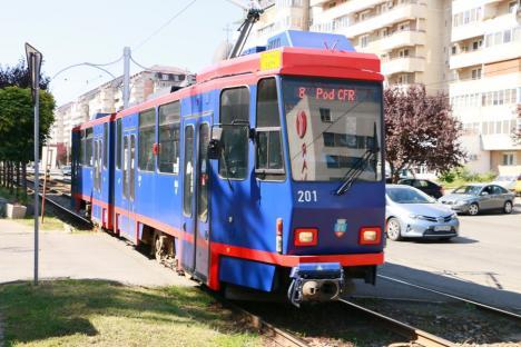 Circulația tramvaielor pe linia 8 se modifică începând de luni. Vezi noul program!