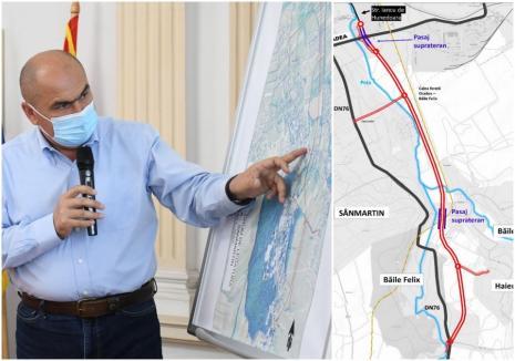 Centura Sânmartin, investiţie de 44 milioane de euro şi exproprieri. Vezi pe unde va trece noua şosea care va lega Oradea şi Băile Felix! (VIDEO)