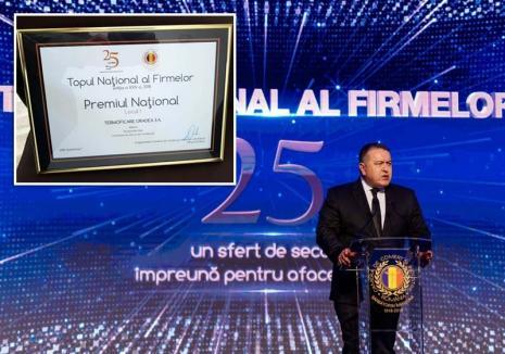 Mai mult decât un premiu pentru Termoficare Oradea S.A.