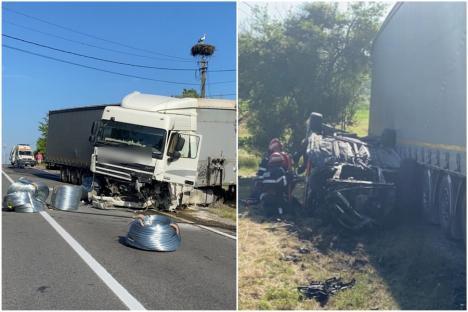 Cum s-a produs accidentul de pe DN1 Huedin – Oradea, soldat cu 3 morţi. Şoferul TIR-ului este bihorean