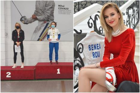 Orădeanca Bianca Benea a cucerit medalia de argint la Naţionalele de scrimă pentru tineret