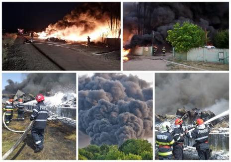 Salontan de 35 de ani, arestat pentru că a produs uriaşul incendiu de la depozitul de reciclabile. A folosit combustibil şi i-a dat foc!