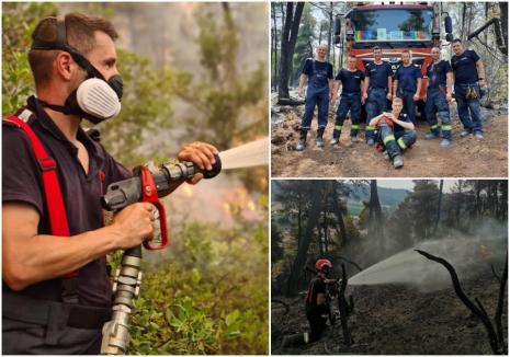 Aplaudaţi în Grecia, decoraţi acasă: Pompierii români, între care doi bihoreni, s-au întors din misiune (VIDEO)