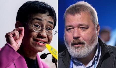 Doi jurnalişti primesc Premiul Nobel pentru Pace. Le sunt lăudate 'eforturile de a proteja libertatea de expresie'