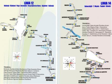 OTL: Autobuzele care circulă pe liniile 12 şi 14 vor fi deviate în perioada 2-7 mai