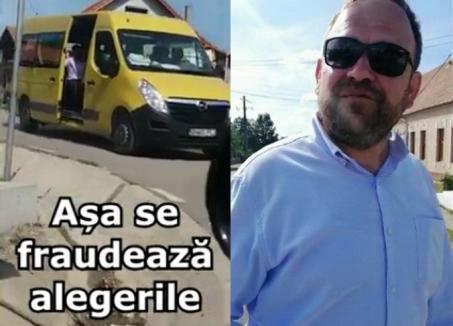 PNL şi PLUS acuză abuzuri făţişe ale primarului UDMR din Lugaşu de Jos: Edilul face campanie la secţia de votare, o subalternă cară oameni la vot cu microbuzul (VIDEO)