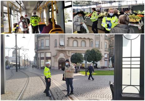 Poliţia Locală verifică dacă în Oradea se respectă noile reguli de 'cod roşu'. Care sunt acestea (FOTO)