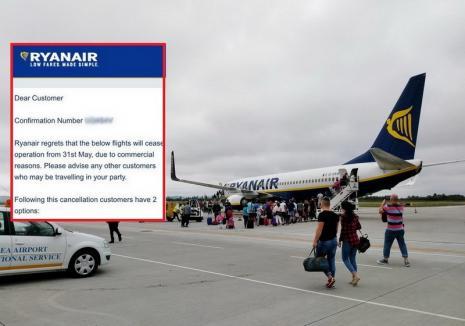 """Ryanair se grăbeşte să """"fugă"""" din Oradea: Operatorul taie cursele de Londra încă din 31 mai!"""
