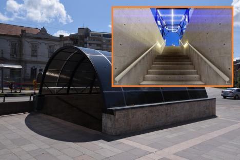 """Copertinele de la intrările în pasajul subteran de lângă """"Crișul"""" vor fi înlocuite (FOTO)"""