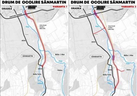 Variantele centurii rutiere a comunei Sânmartin, puse în dezbatere publică