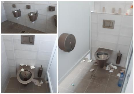 Ruşinea de (pe) autostradă: Au inaugurat ciotul spre Ungaria, dar nu au atribuit întreţinerea WC-urilor din vamă (FOTO)