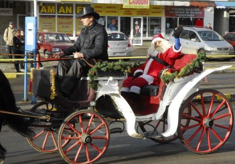Moş Crăciun soseşte din nou cu trenul, pe 24 decembrie, la Oradea