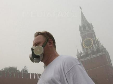 Din cauza incendiilor, locuitorii Moscovei nu ies din casă până marţi
