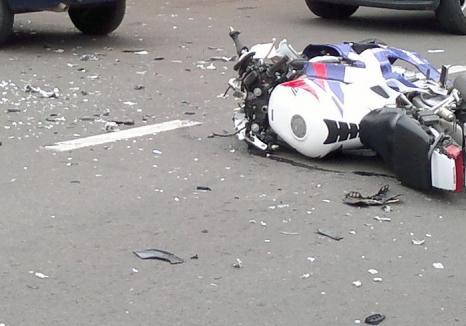 Motociclist orădean lovit pe Calea Borşului: bărbatul era băut dar a scăpat cu răni uşoare