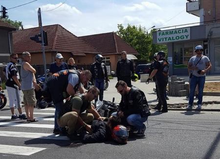 În drum spre Bike Fest, doi motociclişti s-au accidentat în Sînmartin