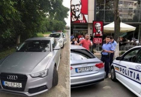 Victorie a Poliţiei Române! Dosar penal pentru șoferul care şi-a pus pe maşină un număr anti-PSD