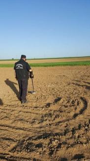 Nouă proiectile de artilerie şi o bombă au fost descoperite în Bihor în ultimele zile (FOTO)
