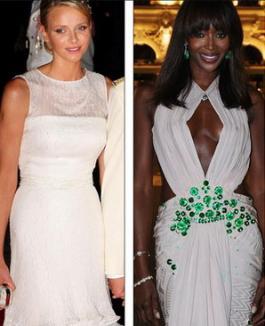 Gafă la nunta din Monaco: Naomi Campbell, în rochie albă, a eclipsat-o pe prinţesa Charlene