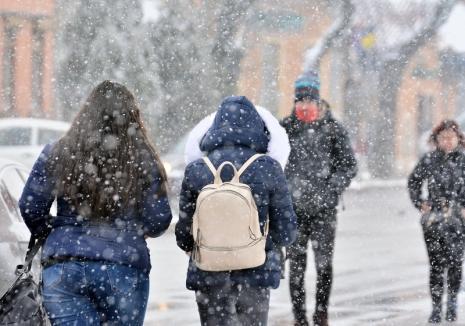 Meteorologii au prelungit codul galben de vreme rea pentru Bihor: Frig, precipitaţii şi polei!