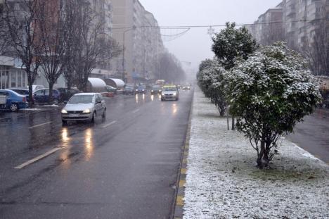 Atenţionare de lapoviţă, ninsoare şi intensificări ale vântului în Bihor