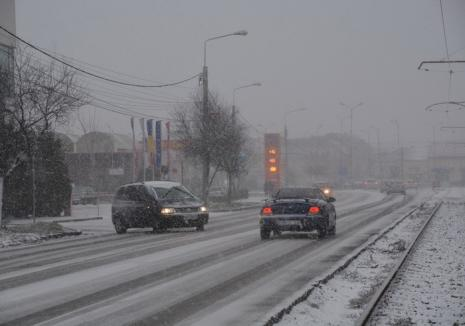 Alertă meteo de vreme rea pentru judeţul Bihor: vânt, ninsori, precipitaţii mixte şi polei