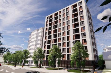 Un bloc cu 12 etaje va fi construit în cartierul Nufărul din Oradea. În jurul lui vor fi spaţii verzi şi locuri de joacă