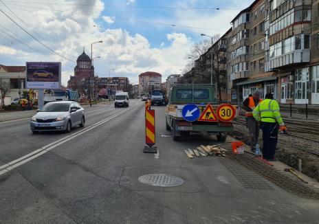 Reabilitarea bulevardului Nufărul – Cantemir din Oradea a ajuns în faza amenajării unei piațete. Vezi cum arată! (FOTO / VIDEO)