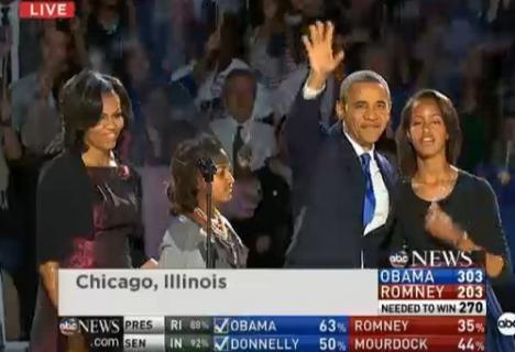 Barack Obama a câştigat alegerile şi este noul preşedinte al Americii