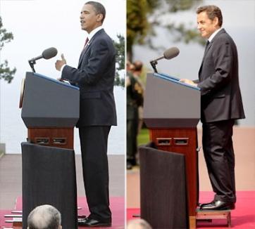 Sarkozy interzice bodyguarzii înalţi (FOTO)