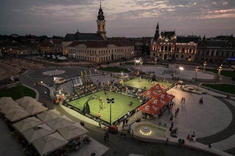 Furtuna a alungat sportivii din Piaţa Unirii: turneul Visit Oradea Streetball 2017 s-a încheiat la Arena Antonio Alexe