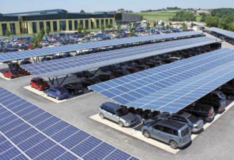 Parcare eco: Centrală electrică fotovoltaică, în parcarea noii Săli polivalente din Oradea