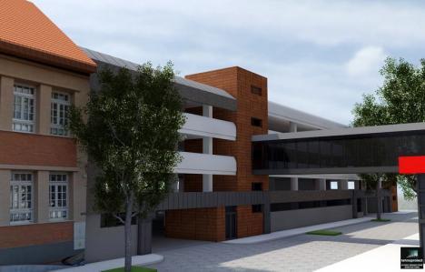 Vă place? Viitoarea parcare din curtea Spitalului Militar va fi legată de magazinul Crişul printr-un pasaj suprateran