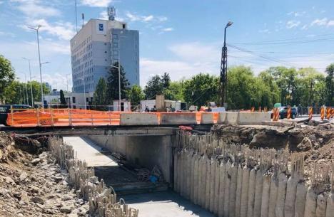Au fost finalizate săpăturile la pasajul subteran din Bulevardul Magheru din Oradea (FOTO)