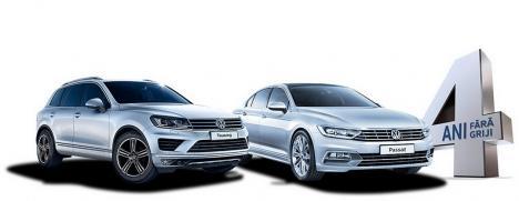 Cu 4 ani garanţie şi întreţinere gratuită, Volkswagen te scapă de griji!
