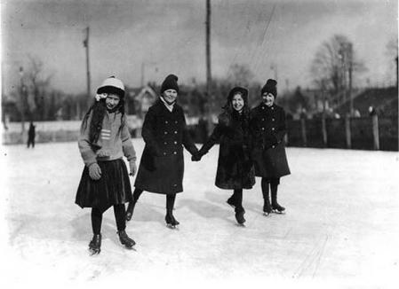Oradea ieri, Oradea azi: Figuri pe gheaţă