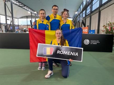 """Orădeanca Patricia Goina, medaliată împreună cu echipa României la """"Tennis Europe Winter Cups by Head"""" din Portugalia"""
