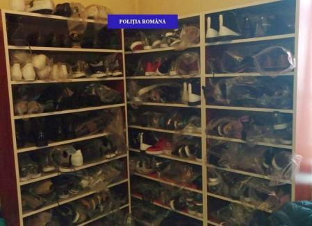 Percheziţii la bişniţari: Haine, pantofi şi parfumuri de peste 300.000 lei au fost confiscate de polițiști (FOTO)