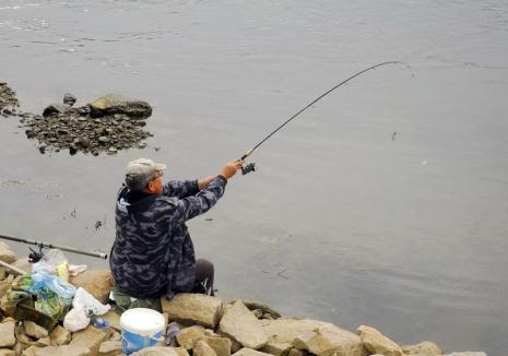 Cu ochii pe undiţe: Cinci pescari amendaţi într-o singură zi de jandarmii bihoreni
