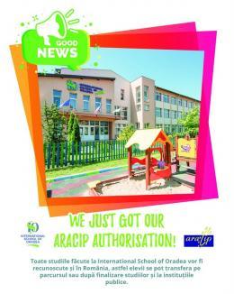 International School of Oradea obține autorizare ARACIP